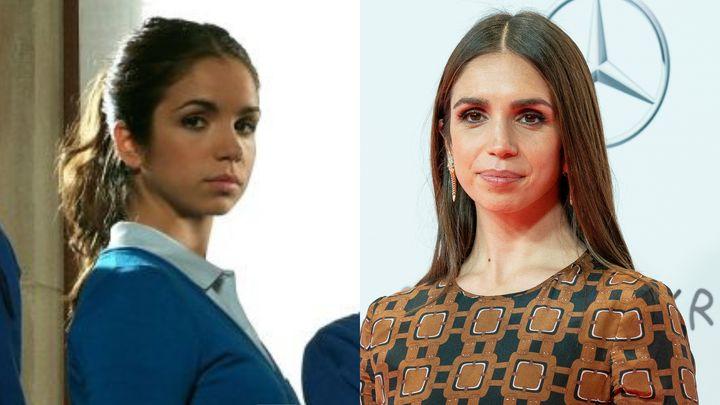Elena Furiase en 2007 en 'El Internado' y en los Premios Forqué en 2021.