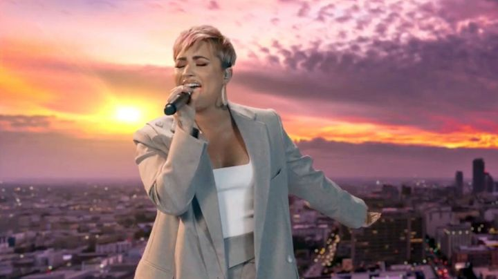 In this screengrab, Demi Lovato performs during the Celebrating America Primetime Special on January 20, 2021.