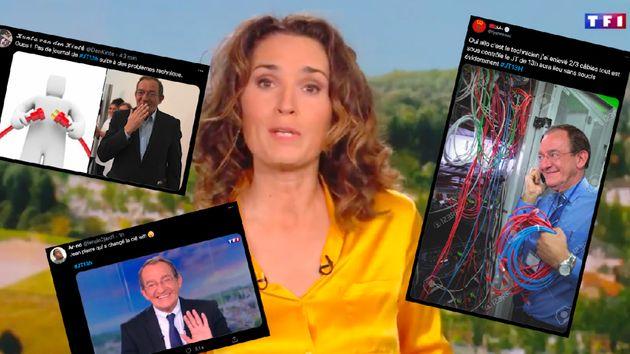 Marie-Sophie Lacarrau n'a pu présenter son journal télévisé de 13h à l'heure habituelle en raison d'une...