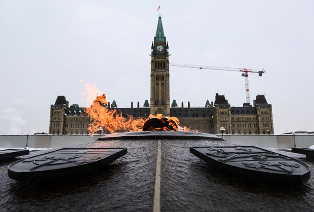 The Peace Tower is pictured on Parliament Hill in Ottawa on Jan. 25,