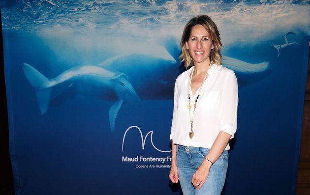 Maud Fontenoy lors de l'événement de la Maud Fontenoy Foundation