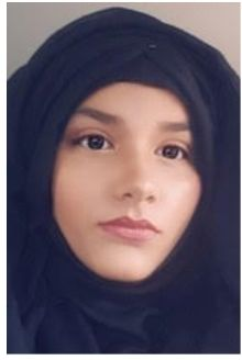 "Hanniyah Bukhari, 19, who lives in Bradford and is one of 20 young people trained as ""Covid"