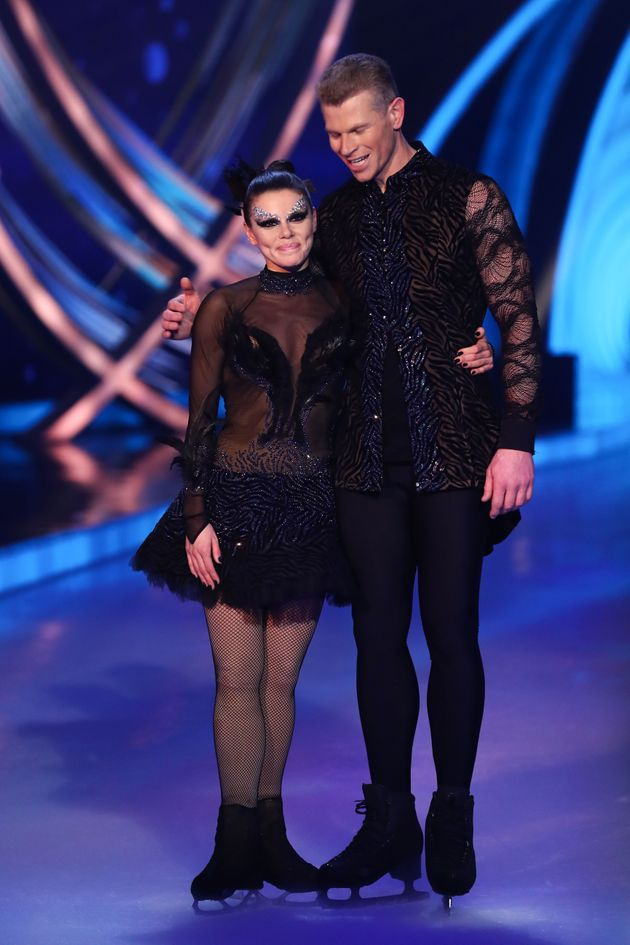 Hamish with his former Dancing On Ice partner Faye