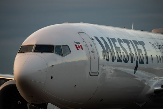 A WestJet Boeing 737 Max at Vancouver International Airport, Richmond, B.C., Jan. 21,