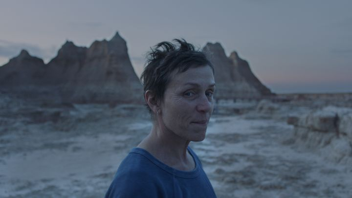 """Frances McDormand in """"Nomadland,"""" now streaming on Hulu and playing in select theaters."""
