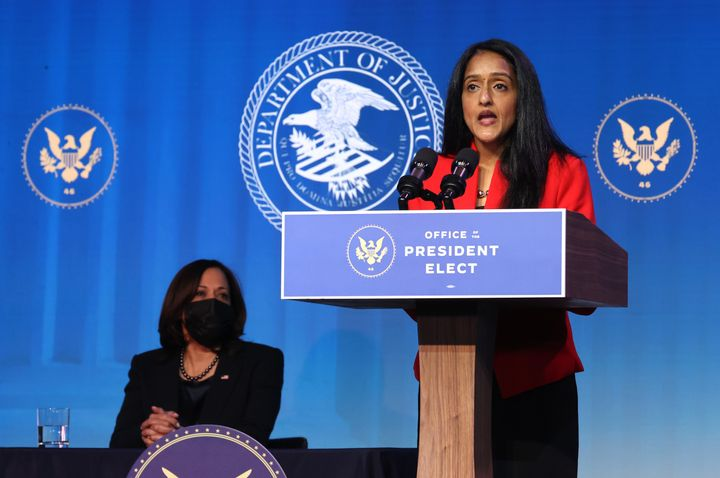 Vanita Gupta, President Joe Biden's nominee for the Justice Department's third-highest position, has received praise from law