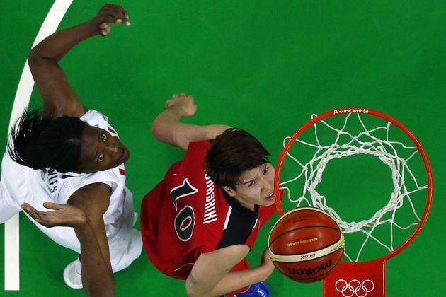 2016年リオ五輪。女子バスケ準々決勝の対アメリカ戦