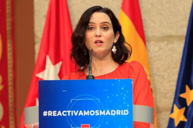 Isabel Díaz Ayuso, durante un acto este