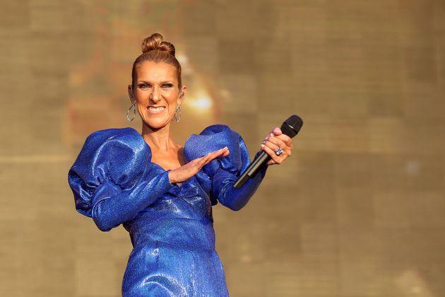 Céline Dion en concert live à Londres, le 5 juillet