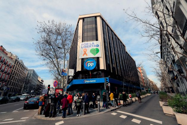 La sede del PP en la calle Génova de