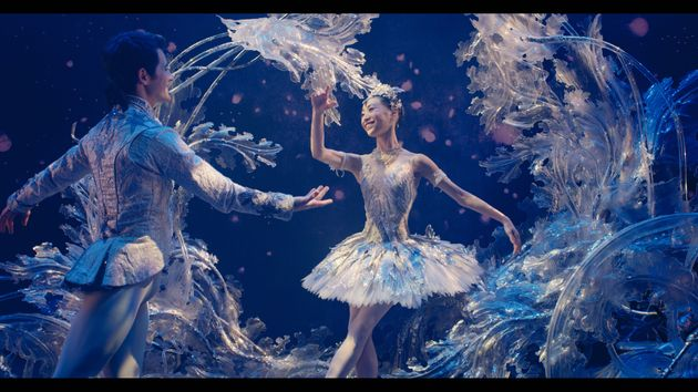 Members of the Birmingham Royal Ballet appear in the