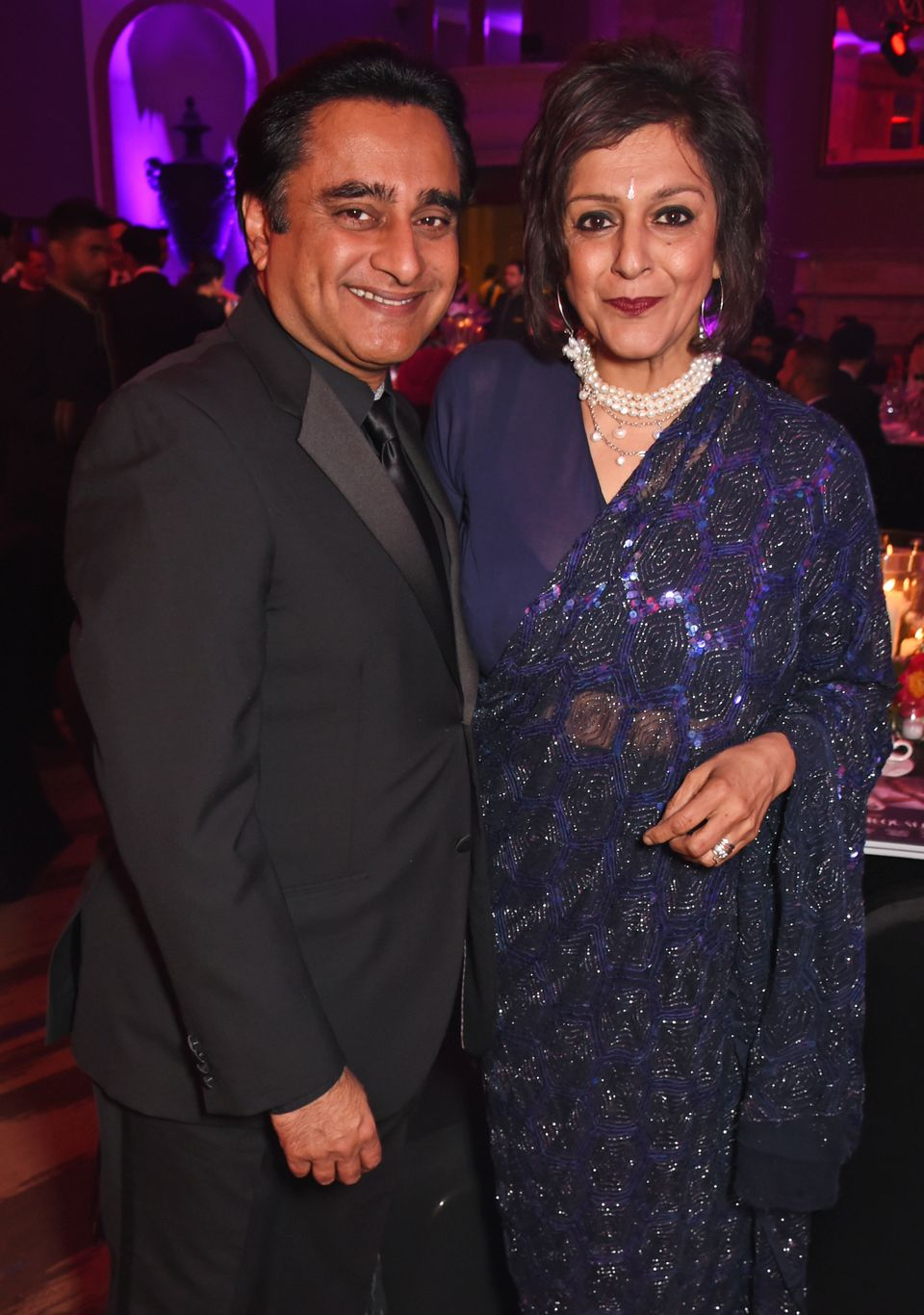 Sanjeev and Meera pictured at the British Asian Awards in