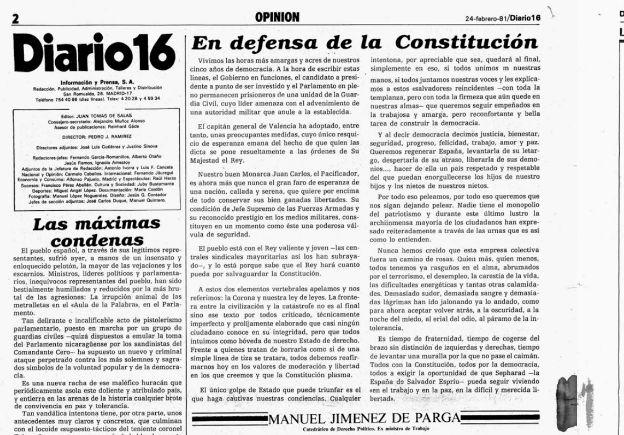Editorial de Diario16 tras el