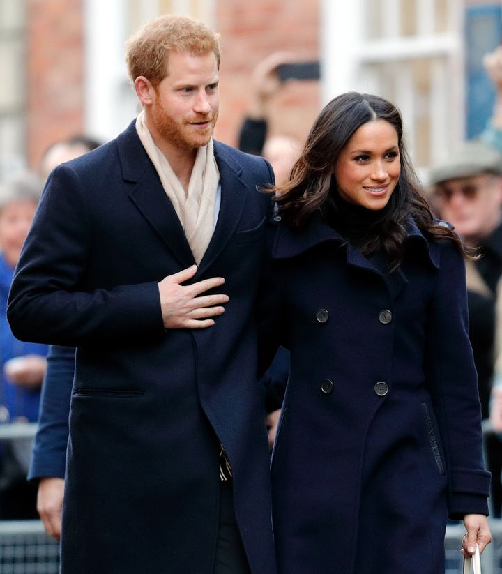 Prince Harry and Meghan Markle in December 2017.