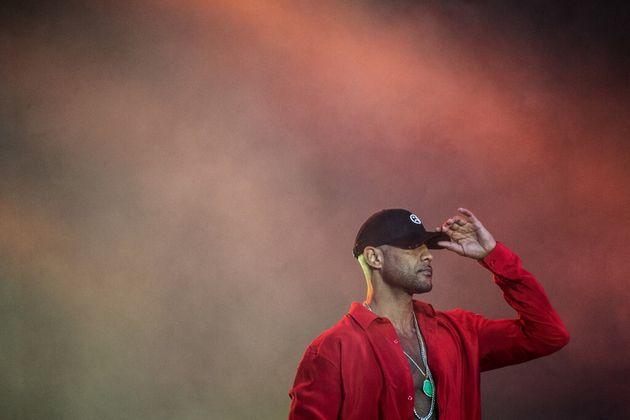 Booba en concert aux Vieilles Charrues en juillet