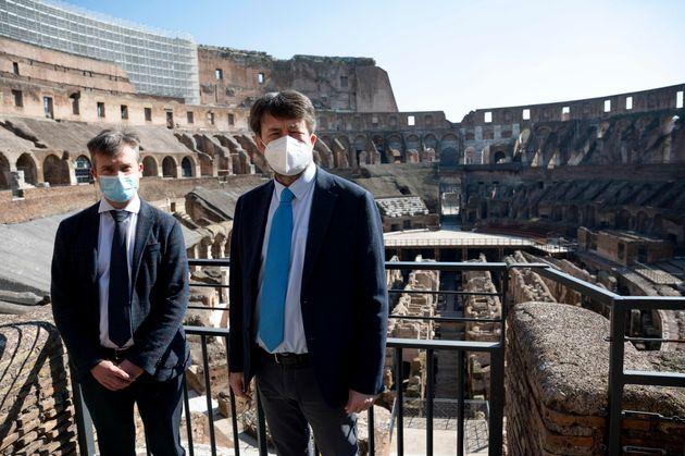 Il ministro dei Beni Culturali, Dario Franceschini, durante il punto stampa per la presentazione di Gabriel...