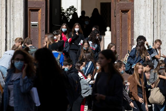 The exit of pupils from the Visconti high school in Rome, Italy, 05 October 2020. A cabinet meeting on...