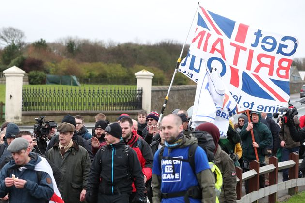 Brexit campaigner Nigel Farage starts 'Brexit Betrayal' march from Sunderland to London, in