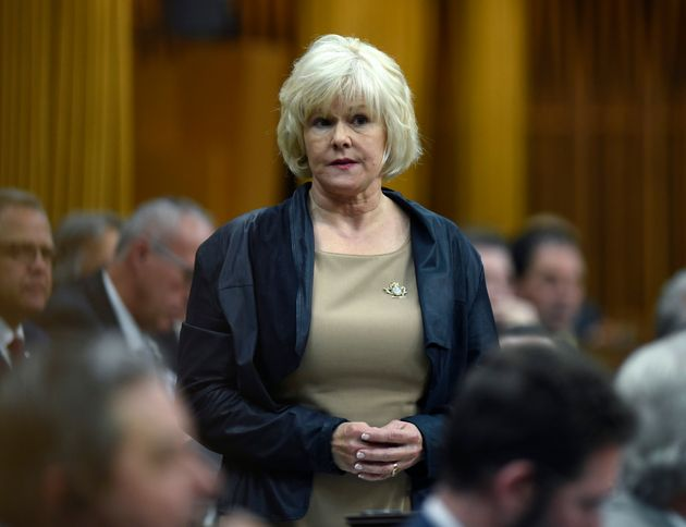 Conservative MP Cheryl Gallant rises during Question Period in the House of Commons on Parliament Hill...