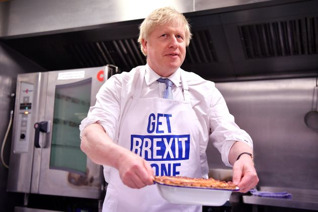Boris Johnson prepares a pie at the Red Olive kitchen in DerbyBoris Johnson prepares a pie at the Red...