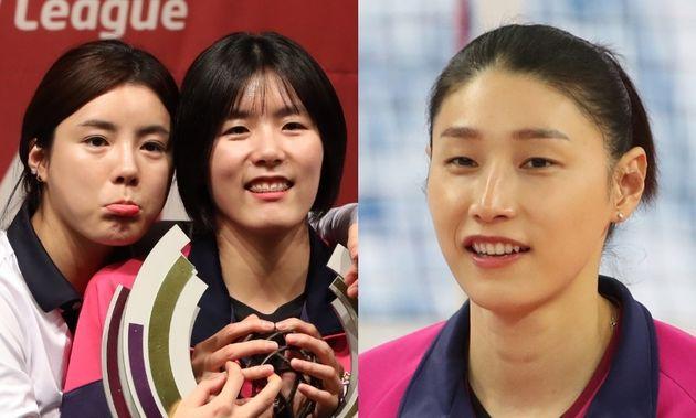 이재영-이다영 자매(좌), 김연경