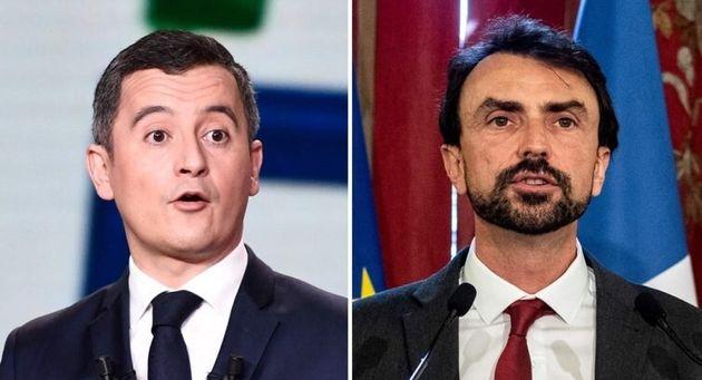 Gérald Darmanin et le maire Écolo de Lyon, Grégory Doucet, s'invectivent sur fond...