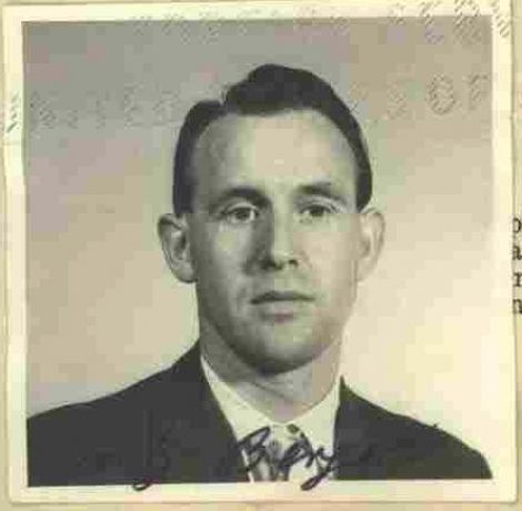 A photo provided by the U.S. Department of Justice shows Friedrich Karl Berger in 1959. The now 95-year-old was deported to G