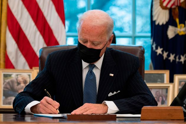President Joe Biden placed blame on former President Donald Trump for the slow rollout of the COVID-19