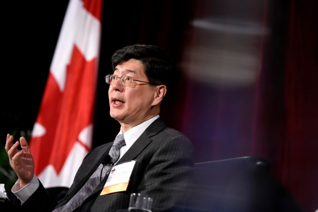 Ambassador of China to Canada Cong Peiwu speaks as part of a panel at the Ottawa Conference on Security...