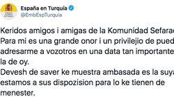 La explicación al tuit de la embajada española en Turquía del que todo el mundo