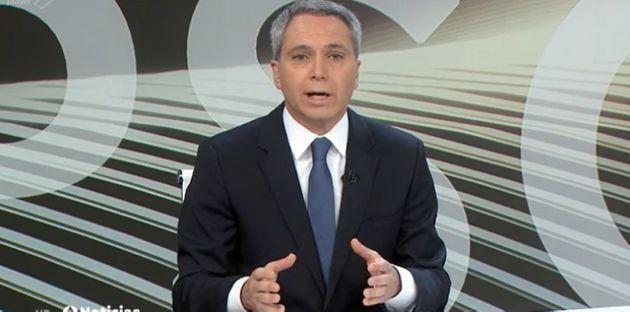 Vicente Vallés en 'Antena 3 Noticias