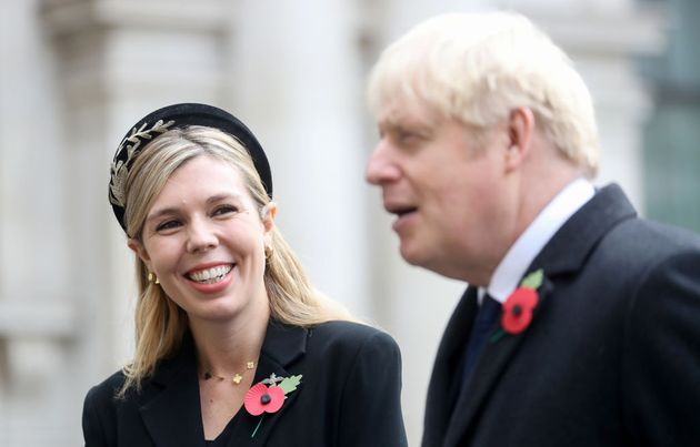 Britain's prime minister Boris Johnson with partner Carrie