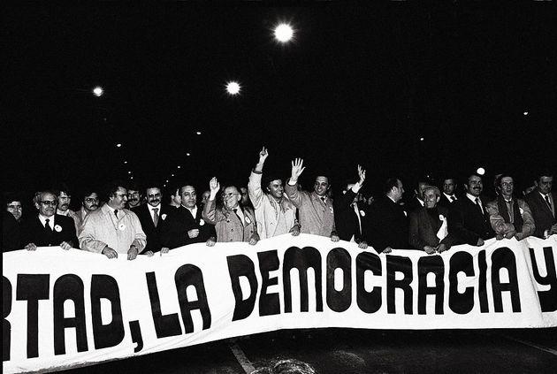 Manifestación contra el intento de golpe de Estado del