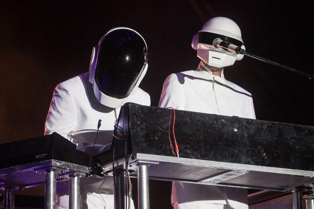 Daft Punk performing at Coachella in
