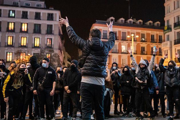 Protestas en Madrid, el pasado fin de semana, por la encarcelación de Pablo