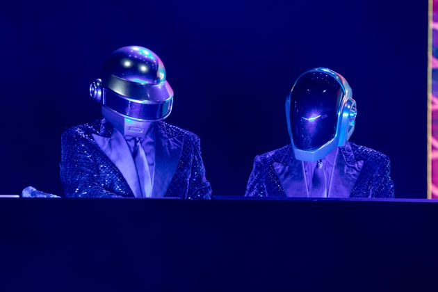 Daft Punk en un concierto en Italia en