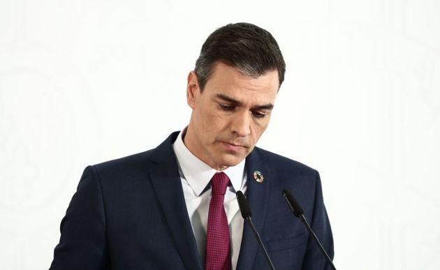 El presidente del Gobierno, Pedro Sánchez, durante una