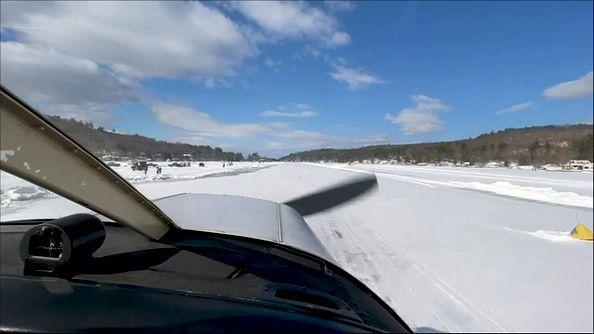 Νιού Χάμσαιρ: Παγωμένη λίμνη μετατράπηκε σε