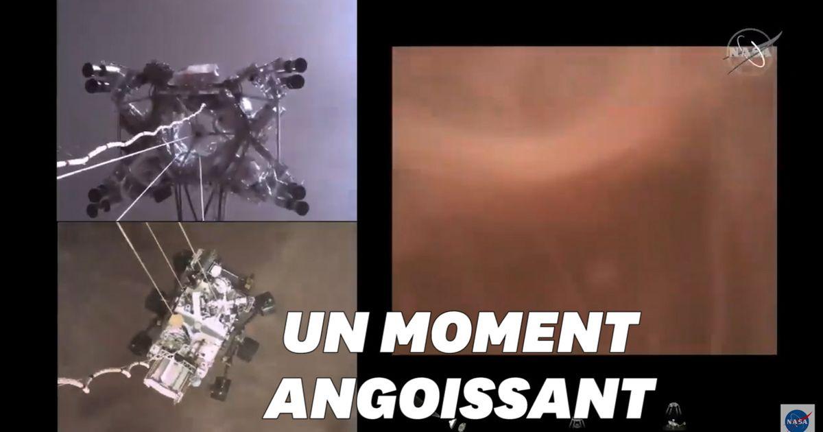 La Nasa publie la première vidéo de l'atterrissage du rover Perseverance sur Mars - Le HuffPost