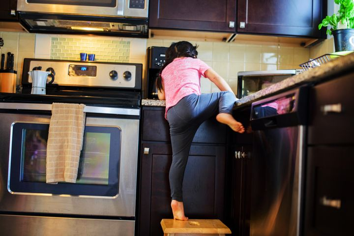 If you've got unsteady kids climbing up on countertops, make sure you have tools at the ready that won't hurt them.