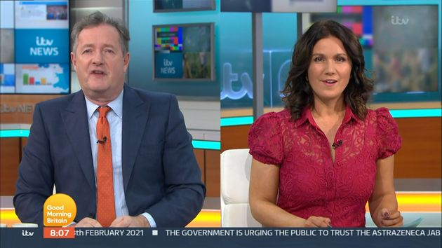 Piers with Good Morning Britain co-presenter Susanna