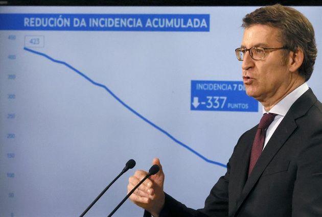 El presidente de la Xunta, Alberto Núñez