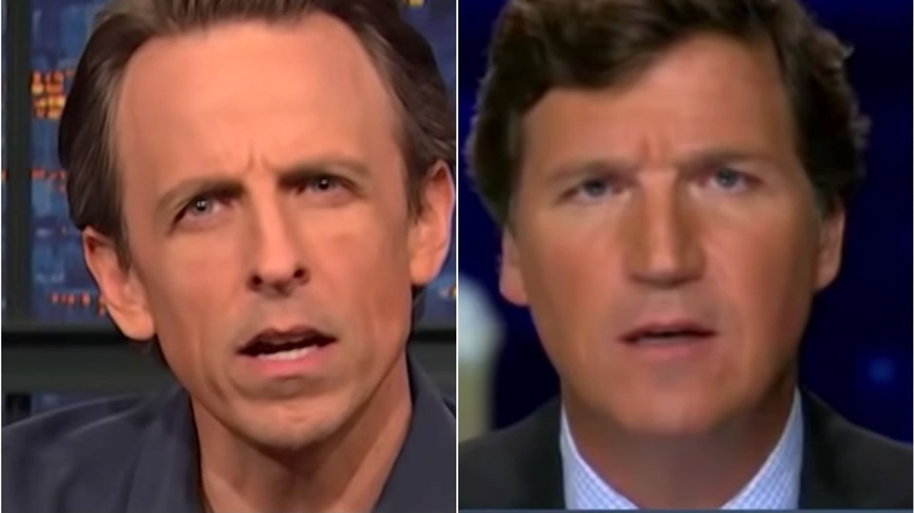 Seth Meyers Takes A Tucker Carlson Rant To The Next Level Of Bonkers