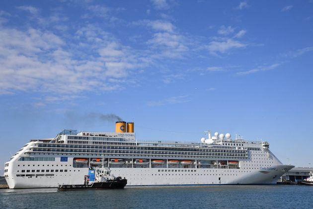 Le bateau de croisière d'Italie, Costa Victoria. Le 25 mars