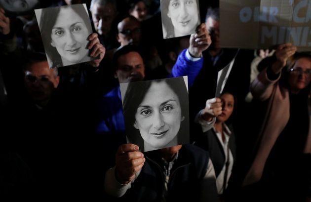 Una manifestazione in memoria di Daphne Caruana