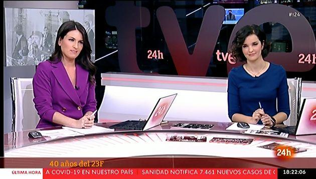 Las presentadoras del Canal 24