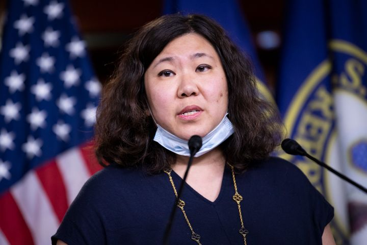 Rep. Grace Meng (D-N.Y.) speaks during a news conference on Capitol Hill, May 27, 2020.