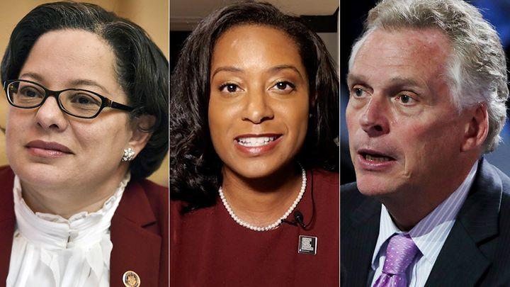 Virginia state Sen. Jennifer McClellan, left, former state Del. Jennifer Carroll Foy and former Gov. Terry McAuliffe are amon