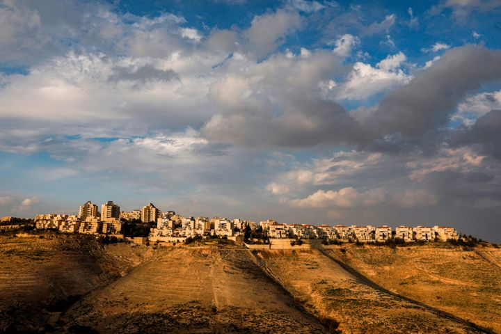 The settlement of Maale Adumim in the town of Eizariya, in the occupied West Bank, is Israel's largest in the occupied territ