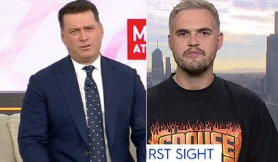 Karl Stefanovic (left) skewers Sam from Married At First Sight